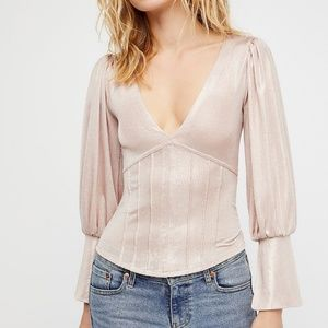 Free People Killer Queen Top - Pink XS NWT